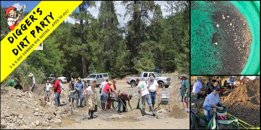 Digger's Dirt Party: Gold Mining Common Dig Outing at – Scott River, CA