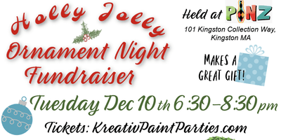 Holly Jolly Ornament Night  Fundraiser at Pinz
