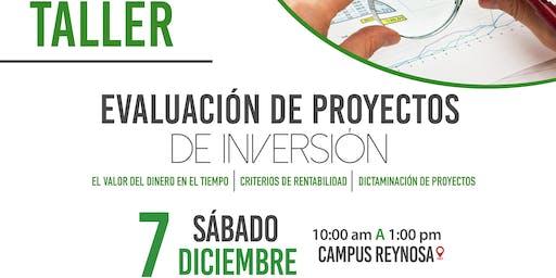"""TALLER """" EVALUACIÓN DE PROYECTOS DE INVERSIÓN"""""""