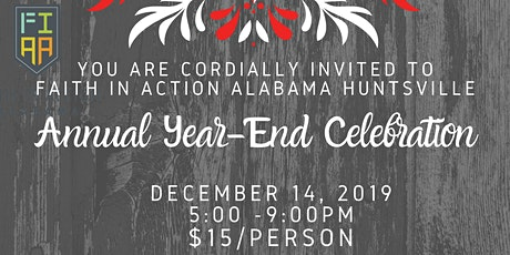 Faith in Action Alabama Huntsville Year-End Celebration tickets
