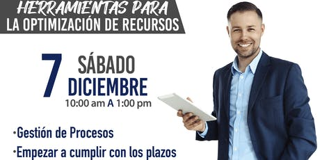 """TALLER """"HERRAMIENTAS PARA LA OPTIMIZACION DE RECURSOS"""" boletos"""