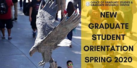 New Graduate Student Orientation, Spring 2020 tickets