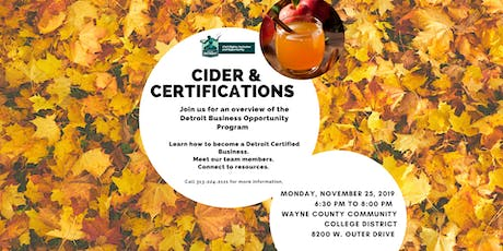 Cider and Certifications tickets