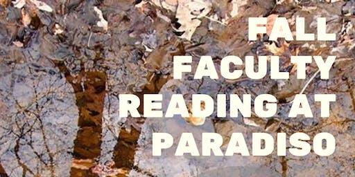 Fall Faculty Reading at Paradiso