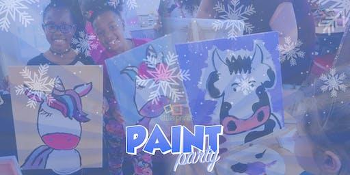 Little Prints Art Frozen Paint Party