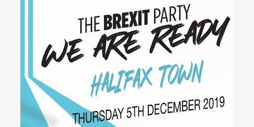 Sarah Wood Brexit Party Meeting Halifax Town