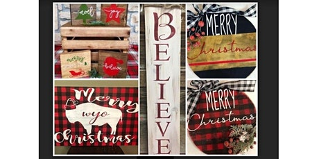 Christmas Wood Signs (12-12-2019 starts at 6:00 PM) tickets