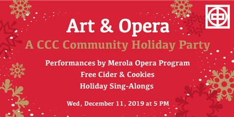 Art & Opera: A CCC Community Holiday Party tickets