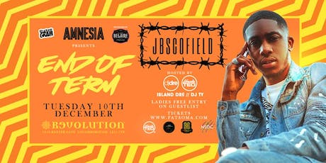 AMNESIA ★ JB SCOFIELD! ★ END OF TERM ★ THIS EVENT WILL SELL OUT tickets