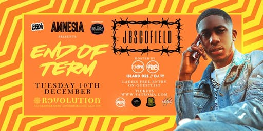 AMNESIA ★ JB SCOFIELD! ★ END OF TERM ★ THIS EVENT WILL SELL OUT