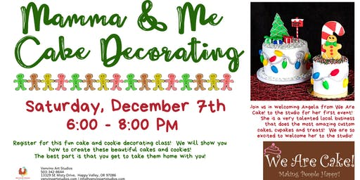 Mamma and Me Cake and Cookie Decorating Class