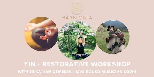 Yin + Restorative Workshop with Erika + Bodhi
