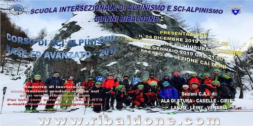 Presentazione del CORSO BASE ED AVANZATO SCI E SNOWBOARD - ALPINISMO 2020