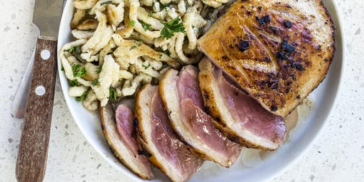 A Favorite Roasted Breast of Duck with Herbed Spaetzle