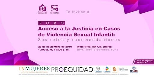 """""""Acceso a la Justicia en casos de Violencia Sexual Infantil"""""""