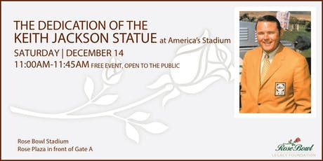 Keith Jackson Statue Dedication at the Rose Bowl Stadium tickets