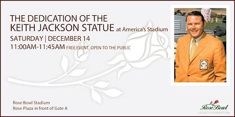 Keith Jackson Statue Dedication at the Rose Bowl Stadium tickets