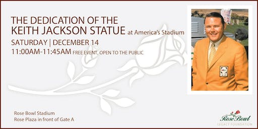 Keith Jackson Statue Dedication at the Rose Bowl Stadium