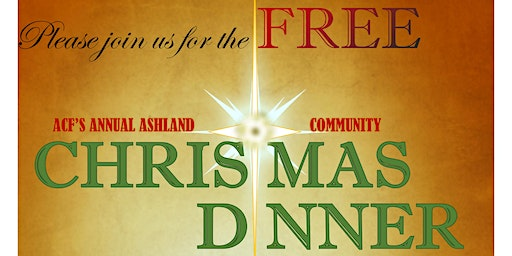 FREE!  Ashland, OR Community Christmas Dinner