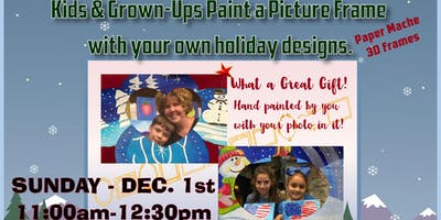 Kids & Grown-Ups Picture Frame Painting Party at Brush & Cork