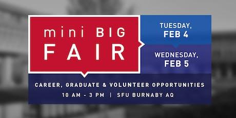 SFU mini BIG Fair 2020 Graduate School & Professional Program Exhibitor Registration tickets