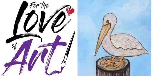 Paint and Sip Class: Happy Pelican (Discount Day!)