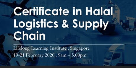 Certificate in Halal Logistics and Supply Chain tickets