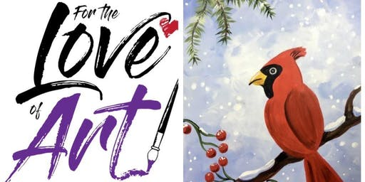 Paint and Sip Class: Cardinal in the Snow