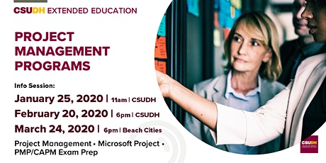 Info Sessions: Project Management Programs | CSUDH tickets