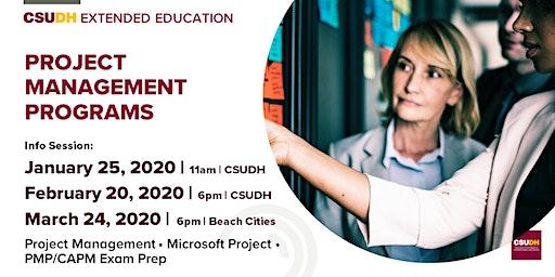 Info Sessions: Project Management Programs | CSUDH