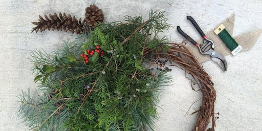 Winter Wreaths workshop with Maple and Mum Floral Designs