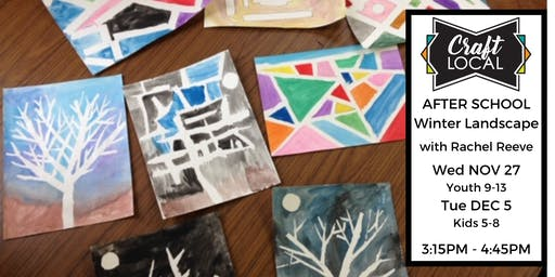 The Twelve Days of Crafting: Winter Landscape Watercolour After School
