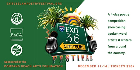 Exit 36 Slam Poetry Festival - Day Three - December 13 tickets