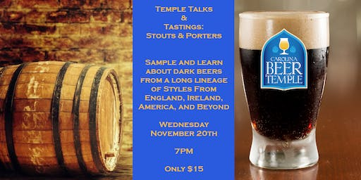 Temple Talks & Tastings: Stouts and Porters