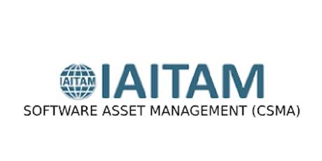 IAITAM Software Asset Management (CSAM) 2 Days Training in Mississauga tickets