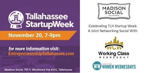 Startup Week Networking Social with WCW & WW at Madison Social