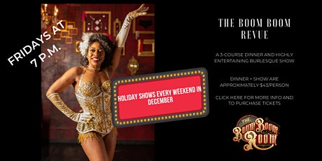 The Boom Boom Revue Friday Late Night Burlesque Show tickets