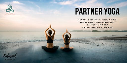Partner yoga at Tamar
