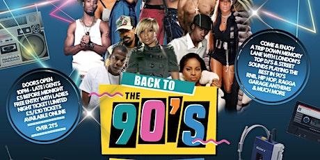 BACK TO THE 90'S | OLD SKOOL VS NEW SKOOL XMAS PARTY | HACKNEY EMPIRE BAR tickets