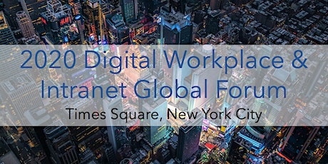 2020 Digital Workplace & Intranet Global - VIRTUAL CONFERENCE tickets