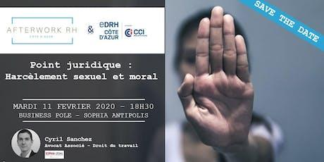 AfterWork RH Côte d'Azur - 11 février 2020 - Point juridique sur le harcèlement billets