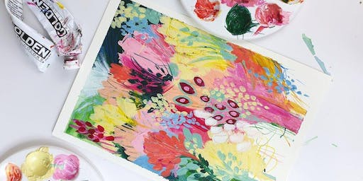Abstract Floral Painting Class