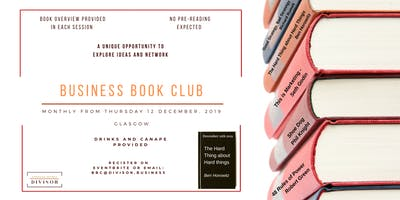Business Book Club - December - The Hard Thing About Hard Things