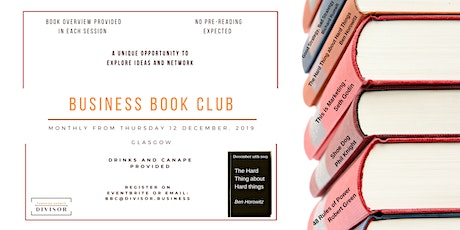 Business Book Club - December - The Hard Thing About Hard Things tickets