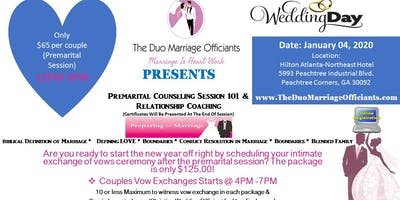 The Duo Marriage Officiants Premarital  Session 101 & Exchange of Vows