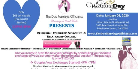 The Duo Marriage Officiants Premarital  Session 101 & Exchange of Vows tickets
