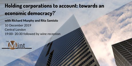 Holding Corporations to Account: towards an Economic Democracy? tickets