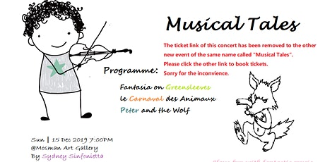 Musical Tales(the link has been relocated) tickets