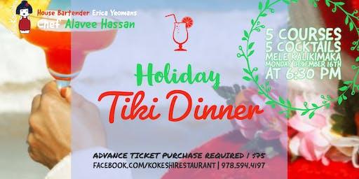 Holiday Tiki Dinner at Kokeshi Restaurant