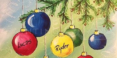 Learn how paint this Christmas ornament painting 'Custom Ornaments'